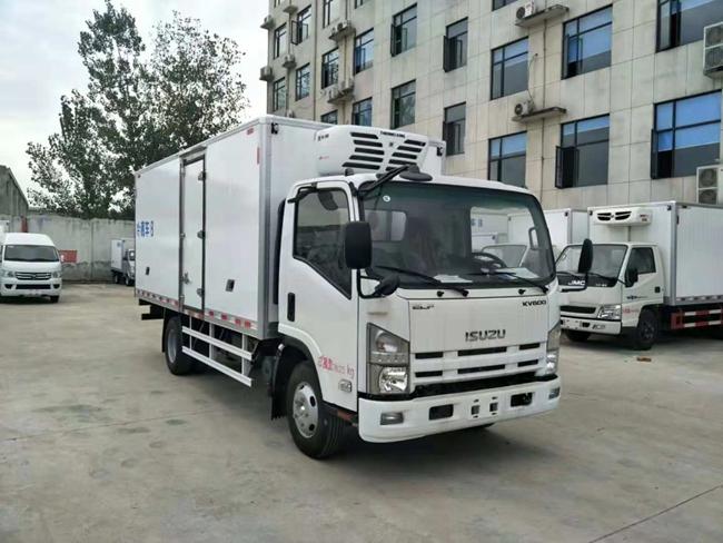 庆铃五十铃600P国五冷藏车(5.1米)